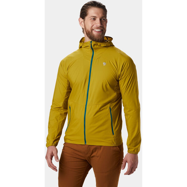 Mountain Hardwear Kor Preshell Jacket Herr dark citron