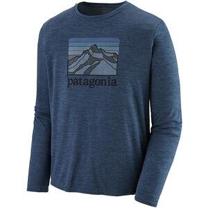 Patagonia Cap Cool Daily Graphic LS Shirt Herr line logo ridge/stone blue x-dye line logo ridge/stone blue x-dye