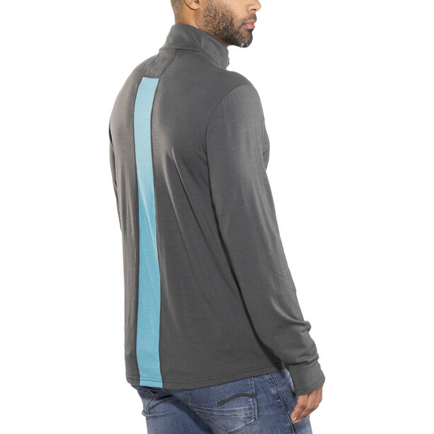 Icebreaker Fluid Zone LS Zip Shirt Herr monsoon/mediterranean