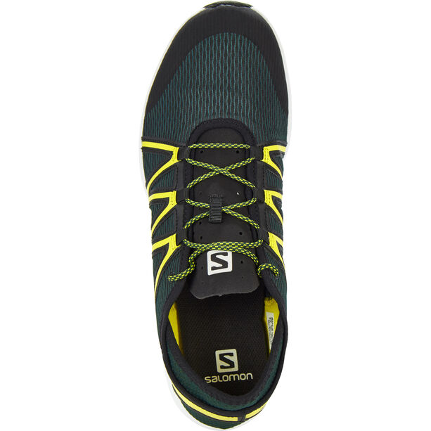 Salomon Crossamphibian Swift Shoes Herr darkest spruce/black/sulphur spring