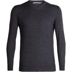 Icebreaker Shearer V-Neck Sweater Herr char heather char heather