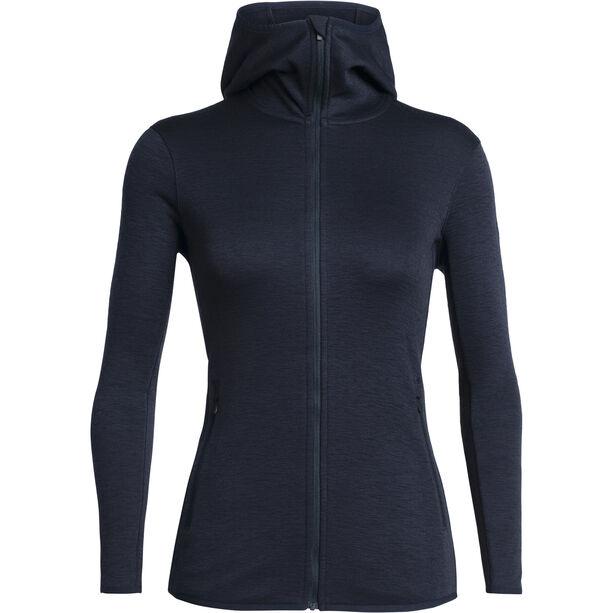 Icebreaker Elemental LS Zip Hood Jacket Dam Midnight Navy