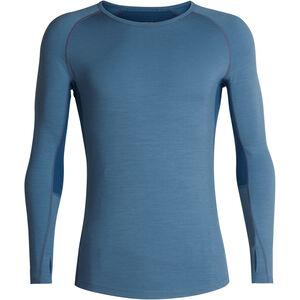 Icebreaker 200 Zone LS Crewe Shirt Herr granite blue-prussian blue granite blue-prussian blue