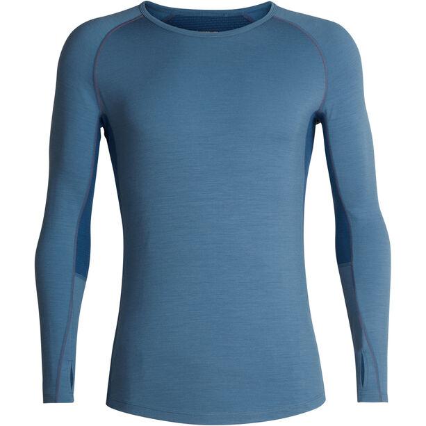 Icebreaker 200 Zone LS Crewe Shirt Herr granite blue-prussian blue