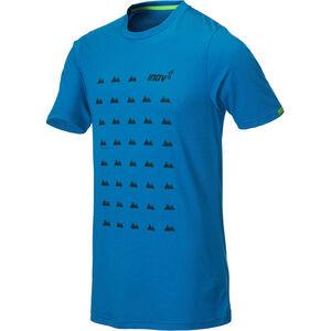 inov-8 TriBlend SS Shirt Herr blue grid blue grid
