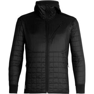 Icebreaker Helix LS Zip Hood Jacket Herr black/jet heather black/jet heather