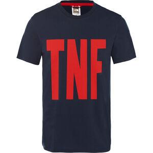 The North Face TNF S/S Tee Herr urban navy/fiery red urban navy/fiery red