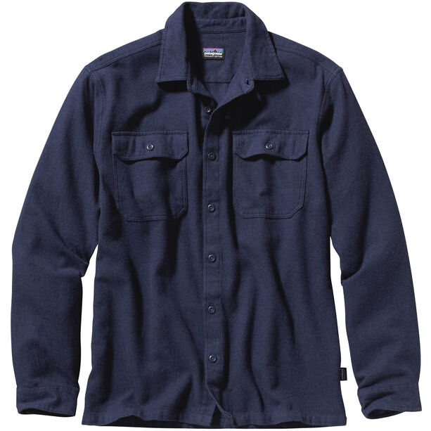 Patagonia Fjord LS Flannel Shirt Herr navy blue