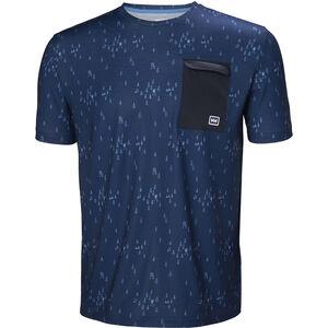 Helly Hansen Lomma T-shirt Herr catalina blue print catalina blue print