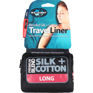 Sea to Summit Silk/Cotton Travel Liner Long Rectangular navy blue navy blue