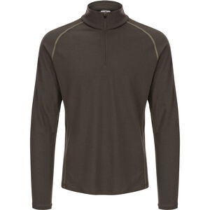 super.natural Base 175 1/4 Zip LS Top Men Killer Khaki/Bamboo Killer Khaki/Bamboo