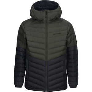 Peak Performance Frost Blocket Down Hooded Jacket Herr forest night forest night