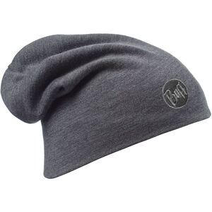 Buff Heavyweight Merino Wool Hat solid grey solid grey