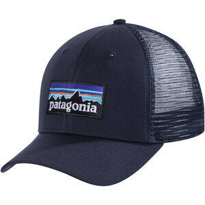 Patagonia P-6 Logo Trucker Hat navy blue navy blue