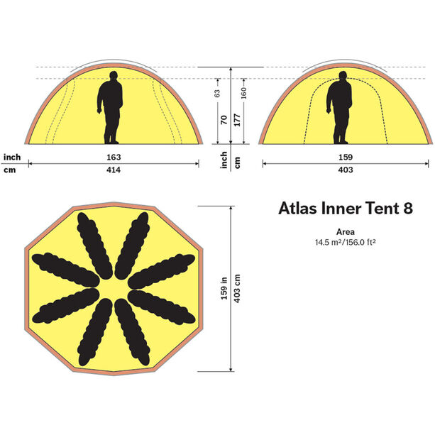 Hilleberg Atlas Innertält 8