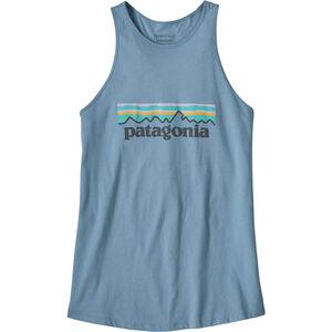 Patagonia Pastel P-6 Logo Organic High Neck Tank Dam berlin blue berlin blue