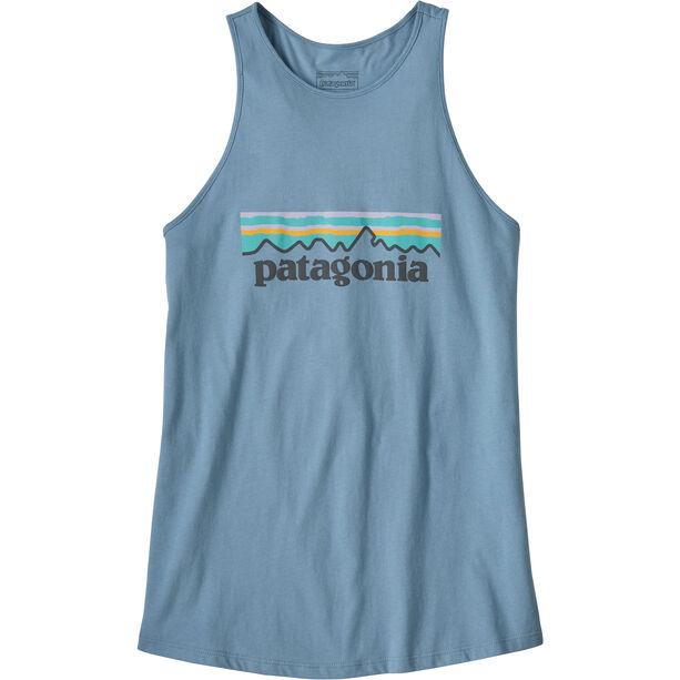 Patagonia Pastel P-6 Logo Organic High Neck Tank Dam berlin blue