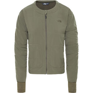 The North Face Mountain Sweatshirt Collarless Full Zip Dam new taupe green new taupe green