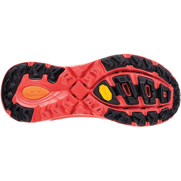 Hoka One One EVO Mafate 2 Running Shoes Herr Black/Poppy Red