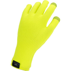 Sealskinz Waterproof All Weather Ultra Grip Knitted Gloves Neon Yellow Neon Yellow