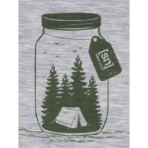 super.natural Graphic Tee Men ash melange/millitary go camping