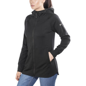 super.natural Relax Zip Hoodie Dam jet black jet black