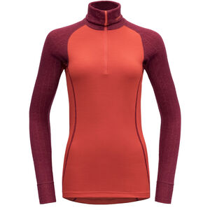 Devold Duo Active Zip Neck Shirt Dam beetroot beetroot