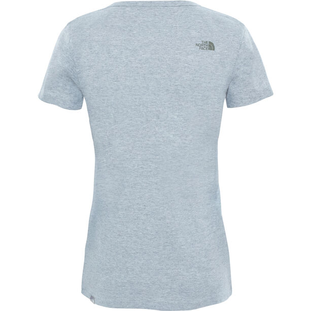 The North Face Simple Dom S/S Tee Dam tnf light grey heather/tnf black