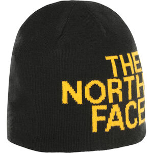 The North Face Reversible TNF Banner Beanie TNF Black/TNF Yellow Logo Xl TNF Black/TNF Yellow Logo Xl
