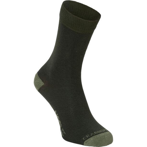 Craghoppers Single NosiLife Travel Socks Dam parka green