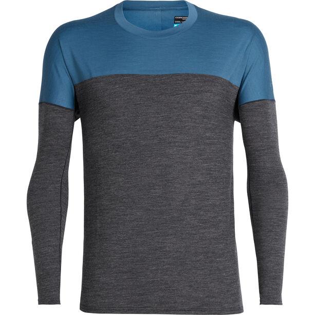 Icebreaker Kinetica LS Crewe Shirt Herr midnight navy heather/thunder