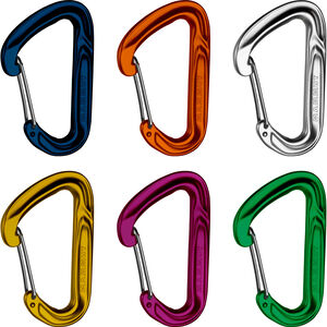 Mammut Wall Light Carabiner Wire Gate 6 Pieces assorted assorted
