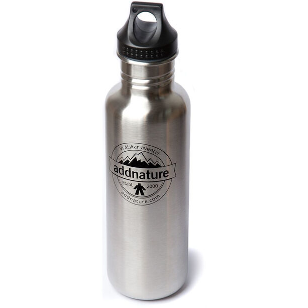 addnature Stainless Steel Bottle 800ml silver/addnature print