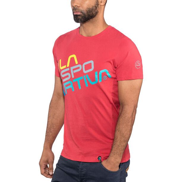 La Sportiva Square T-shirt Herr cardinal red