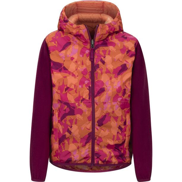 Marmot Featherless Reversible Hoody Flickor nasturtium/purple berry