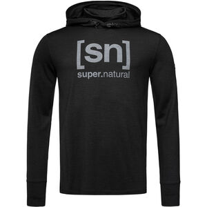 super.natural Alpine Hooded LS Herr jet black melange/vapor grey jet black melange/vapor grey