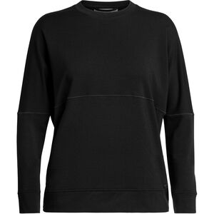Icebreaker Momentum LS Crewe Shirt Dam Black Black