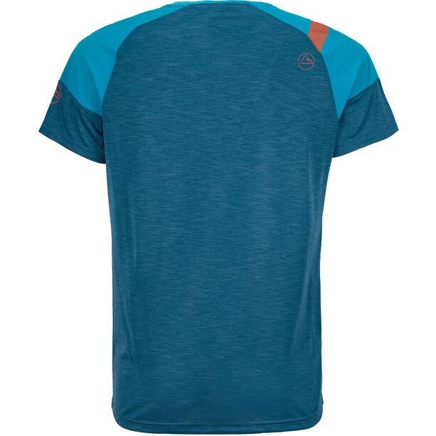 La Sportiva TX Combo Evo T-shirt Herr lake/tropic blue