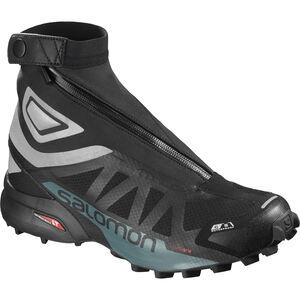 Salomon Snowcross 2 CSWP Shoes black/reflective silver/mallard blue black/reflective silver/mallard blue