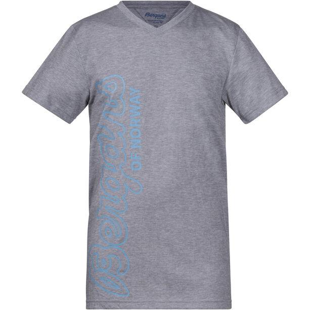 Bergans Tee Barn grey melange/glacier/steel blue