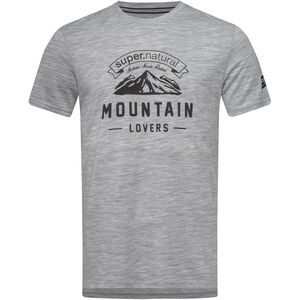super.natural Graphic Tee Mountain Lovers Herr ash melange/jet black ash melange/jet black