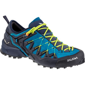 SALEWA Wildfire Edge Shoes Herr premium navy/fluo yellow premium navy/fluo yellow