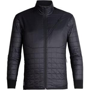 Icebreaker Helix LS Zip Jacket Herr black/jet heather black/jet heather