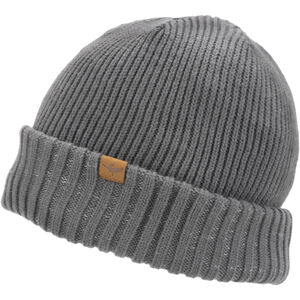 Sealskinz Waterproof Cold Weather Roll Cuff Beanie Grey Grey
