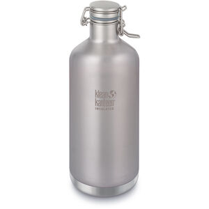 Klean Kanteen Growler Vacuum Insulated Bottle Swing Lok Cap 1900ml brushed stainless brushed stainless
