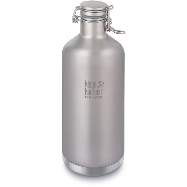 Klean Kanteen Growler Vacuum Insulated Bottle Swing Lok Cap 1900ml brushed stainless