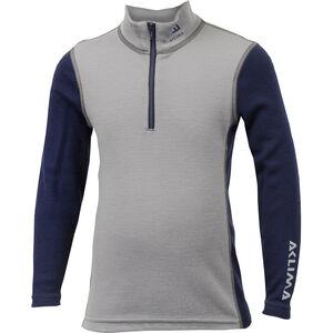 Aclima WarmWool Mock Neck Shirt Barn frost grey/peacoat frost grey/peacoat