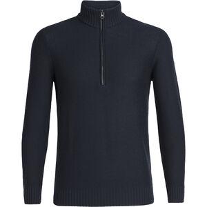 Icebreaker Waypoint LS Half Zip Shirt Herr Midnight Navy Midnight Navy