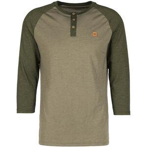 tentree Standard 3.25 Henley Shirt Herr vetiver green/olive night vetiver green/olive night