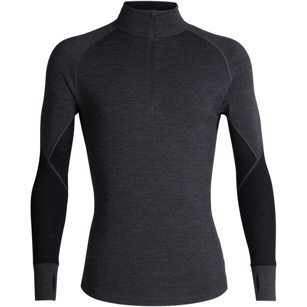 Icebreaker 260 Zone LS Half Zip Shirt Herr Jet Heather/Black